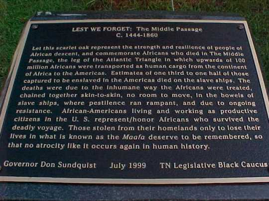 Middle Passage Monument